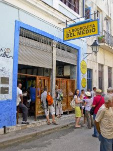 La Bodeguita del Medio, Hemmingway's favourite bar in Cuba