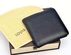 Louis Vuitton Marco Epi Black Leather Men's Wallet