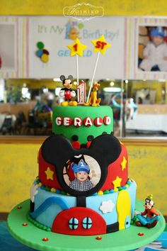 First Mickey mouse cake