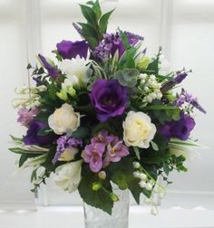 mauve flower arrangements | Artificial arrangement made for my June bride which will be used as a ...