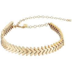 Rebecca Minkoff Chevron Stretch Choker (Gold) Necklace ($68) ❤ liked on Polyvore featuring jewelry, necklaces, accessories, chain necklace, yellow gold chain necklace, chain choker, gold chevron necklace and yellow gold pendant necklace