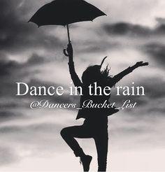 Dancers bucket list
