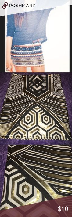 Tribal Mini Skirt✨ Super cute for date night or clubbing only worn once. Give me offers :) Moon Collection Skirts Mini