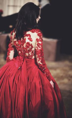 Backstage at Marchesa, this is honestly my favorite dress of the season! Absolutely stunning!