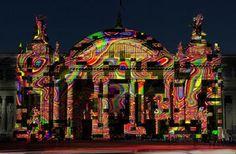 """Miguel Chevalier """"L'Origine du Monde"""" au Grand Palais. Installation de réalité virtuelle générative. #art #paris #art #fair #miguel #chevalier #2014. ♥ by #GalerieW 2014"""