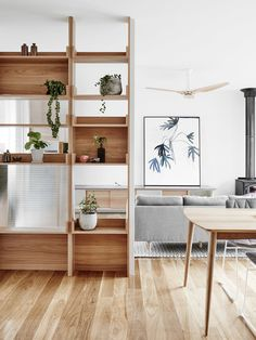 5 Astounding Tips AND Tricks: Bamboo Room Divider Style portable room divider interior design.Room Divider Plants Home room divider closet organization ideas. Home Living Room, Living Spaces, Living Area, The Design Files, Modern Room, Modern Living, Minimalist Living, Modern Bathroom, Home Fashion