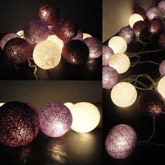 purple string lights