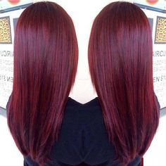 Cherry coke hair:) wanna get my hair died like this for the summer!!