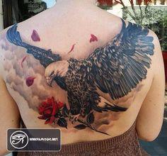 75 hình xăm đại bàng đẹp ở lưng, ngực, cánh tay cho nam - Eagle Tattoo Design