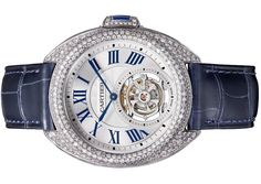 The Clé de @Cartier Flying Tourbillon watch is set with more than 3.5 carats of diamonds. http://onforb.es/1WdFrfB