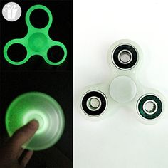 Adult Kid Luminous Tri Fidget Hand Spinner Ball Bearing Gyro Toy Relieve Stress Anxiety Reducer - Fidget spinner (*Amazon Partner-Link)