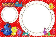 Fazendo a Minha Festa!: Galinha Pintadinha em Vermelho e Branco com Bolinhas - Kit Completo com molduras para convites, rótulos para guloseimas, lembrancinhas e imagens!