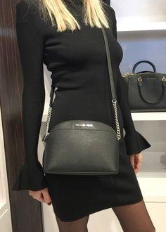 Michael Kors Emmy Crossbody Black Saffiano Leather Bag for sale online Medium Crossbody Bags, Leather Crossbody Bag, Leather Bag, Michael Kors Handbags Outlet, Michael Kors Bag, Mk Purse, White Purses, Shoulder Bag, Black