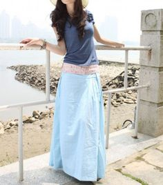 Elegant Low Waist Long Skirt -NC058