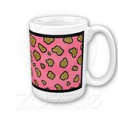 Pink Leopard Print Coffee Mug