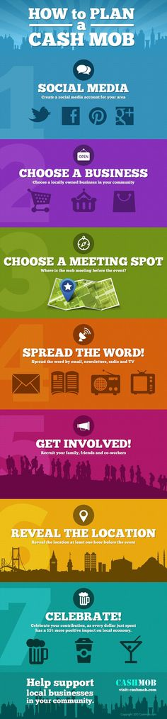 7 Steps to Plan a Cash Mob [Infographic] HowtoPlanaCashmob made by CashMob.com