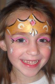 Gold crown face paint