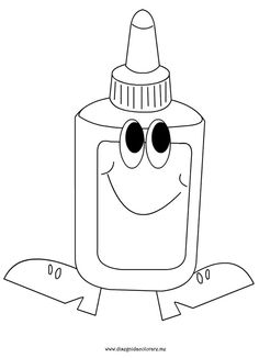 glue coloring page Adult Coloring, Coloring Books, Coloring Pages, Art Themed Party, Party Themes, Open Book Drawing, Art Projects, Projects To Try, Back To School Crafts