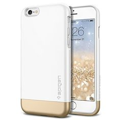 iPhone 6 Case, Spigen® [Safe Slide] iPhone 6 (4.7) Case Protective [Style Armor] [Shimmery White] SOFT-Interior Scratch Protection Metallic Finished Base with Dual Layer Protection Slim Trendy Hard Case for iPhone 6 (4.7) (2014) - Shimmery White (SGP11048) Spigen