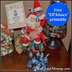 East  Coast  Mommy: Elf on the Shelf Idea - Elf Kisses... with free pr...