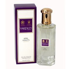 April Violets perfume was introduced in 2011 by the design house of Yardley. The fragrance features a blend of pomelo, orange, mandarin, tangerine, and lemon for a light, fruity and feminine effect.