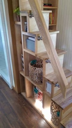 75 Exciting Loft Stair For Tiny House Ideas #loft #stairs #tinyhouse