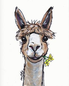 Alpaca canvas art print, Alpaca Art, Alpaca prints, Alpaca decor, Canvas Alpaca print from original canvas alpaca painting. by HippieHoundUSA on Etsy