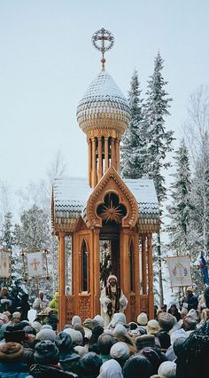 """""""Abode of Dawn"""" is the name of a small settlement in the Siberian Taiga. It is home to the most devoted followers of the cult known as """"Church of the Last Testament"""". This strange place features some pretty unique fairylandish architecture."""