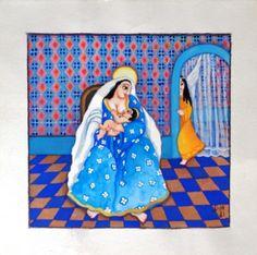 Dila. Nossa Senhora do Aleitamento (1981). Guache. 24x24 cm