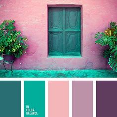 Pink purple turquoise color pallette