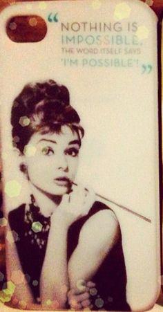 Amazing Audrey Hepburn phone case!! I want!!!