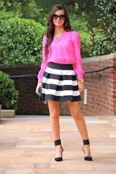 Top:  Choies  c/o | Skirt:  Lulu's  c/o | Necklace: J. Crew { similar } | Shoes:  Zara  {obsessed & so comfy!} | Earri...