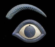 Sumerian or Elamite Lapis Lazuli Eye Inlay, c. 2nd Half of the 3rd Millennium BC(Map of ancient Sumer and Elam )