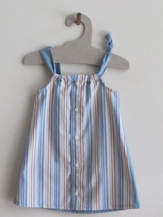 Sundress made from men's shirt for Daddy's Button Shirt  sold Lake Mary 11/15
