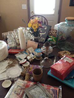 Gathering supplies for wedding reception