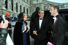 Arrival at the Hofburg Palace for the 2013 DANCER AGAINST CANCER ball:  Susan Shaughnessy, Charles Shaughnessy signing autographs and coordinator and host of the ball, Matthias Urrisk-Obertynski  ©PaulVanDuke 6 April, 2013