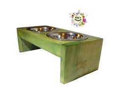 Visit our Etsy shop! https://www.etsy.com/listing/173581900/personalized-wooden-dog-bowl-table?ref=listing-shop-header-3  Also visit our Website! http://tiniscloset.com/tinis-story/