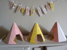 Teepees and Feathers printables