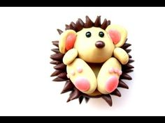 Polymer clay hedgehog TUTORIAL