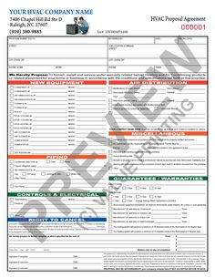 51 best hvac forms images on pinterest flat rate invoice template