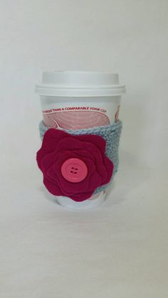Check out this item in my Etsy shop https://www.etsy.com/listing/206199959/coffee-sleeve-light-blue-with-pink