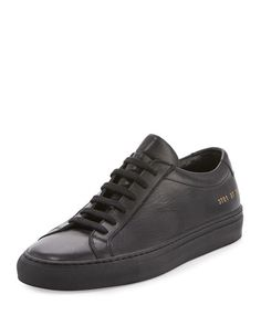 COMMON PROJECTS ACHILLES LEATHER LOW-TOP SNEAKER. #commonprojects #shoes #