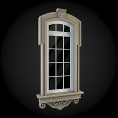 Window 038 by ThemeREX High quality polygonal model of window.max Max 2010 for separate models .max Max 2010 for the scene, w House 3d Model, Oregon, Window Styles, Brick And Stone, Front Elevation, 3d Max, Window Design, Architecture Details, Tall Cabinet Storage