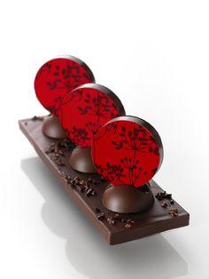 chocolate by Christophe Michalak I Love Chocolate, Chocolate Heaven, Chocolate Art, Chocolate Lovers, Chocolate Desserts, Elegant Desserts, Fancy Desserts, Chocolates, Chocolate Showpiece