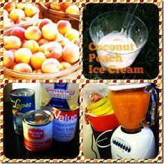 Fresh Peach coconut cinnamon #icecream #recipe
