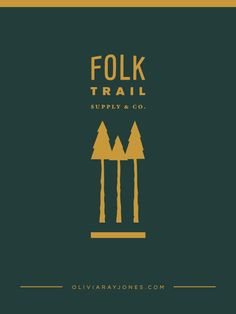 This is a logo for an outdoor supply company called Folk Trail. This brand touts. Branding Kit, Branding Design, Logo Design, Graphic Design, Camping Theme, Camping Gear, Logo Color Schemes, Outdoor Companies, Adventure Company