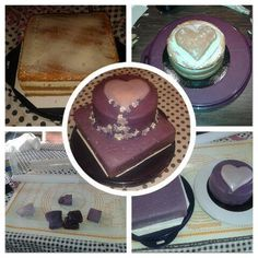 bruidstaart purple love