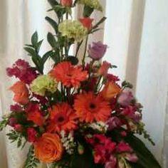 Autumn Delight - MMZ Florist Lilac Roses, Orange Roses, Floral Wreath, Wreaths, Autumn, Flowers, Plants, Decor, Floral Crown