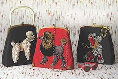 50's vintage poodle handbags. from homes & antiques....for Danielle, Kristie and Chrissy