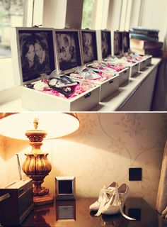 make  box for each bridesmaid with your favorite picture of the two of you, and put little thank you gifts in them <3 LOVE